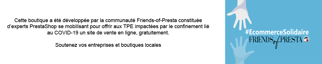 e-commerce solidaire par Friends of Presta : votre e-commerce gratuit en 24h